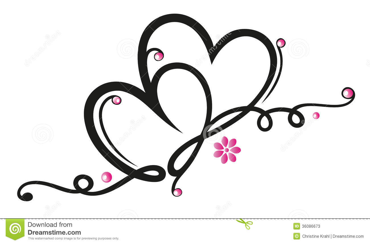 Filigree Heart Clipart.