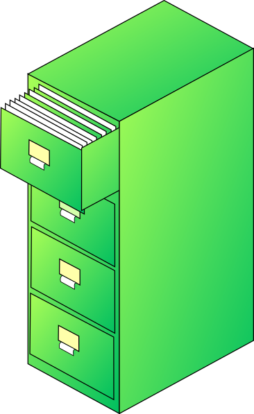 Filing Cabinet Green Clip Art At Vector Clip Silver Filing Cabinet.