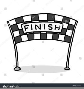Race Finish Line Clipart.