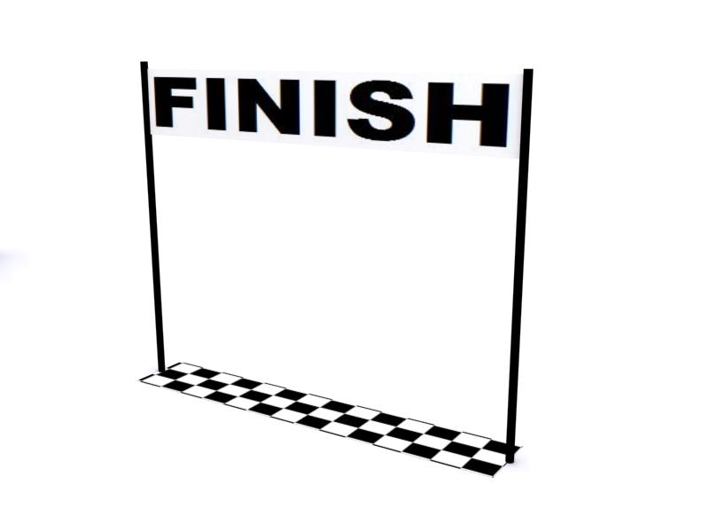 Finish Line Crossing Clip clipart free image.