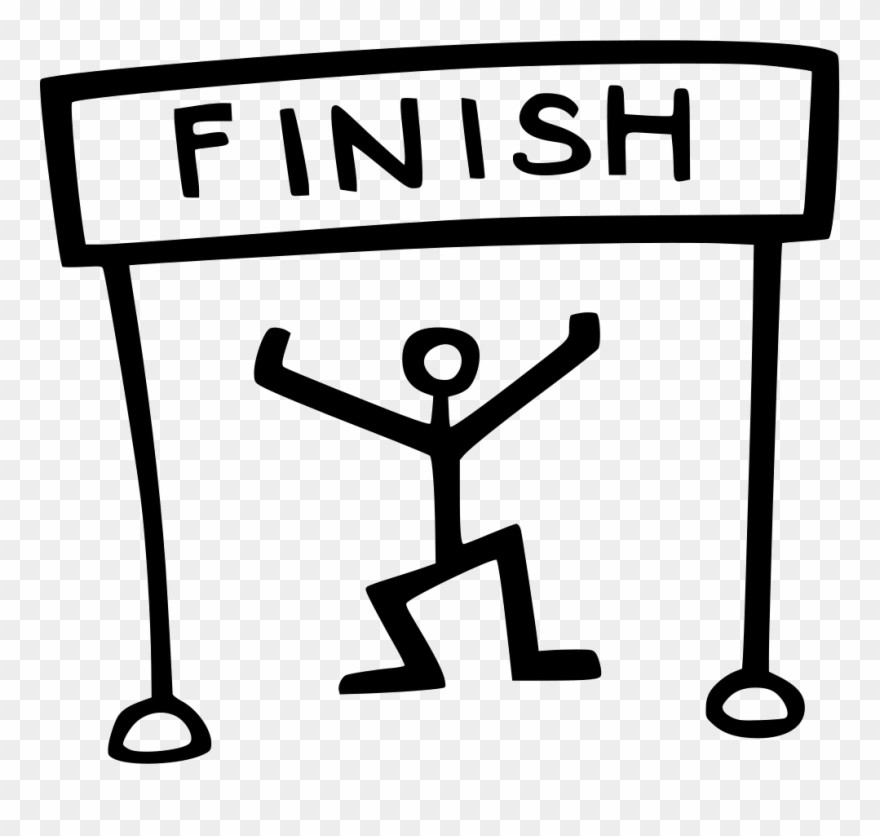 Finish Line Clipart Black And White.