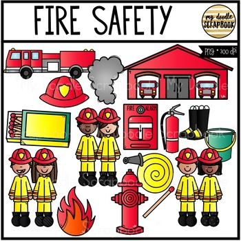 Fire Safety (Clip Art for Personal & Commercial Use).