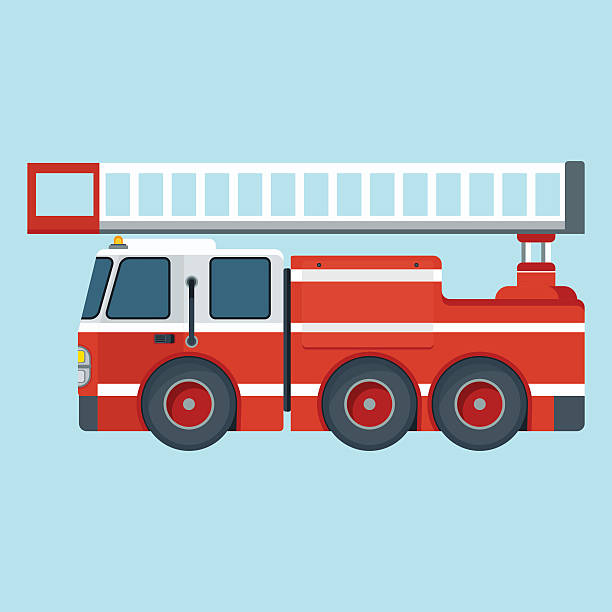 Best Fire Truck Illustrations, Royalty.