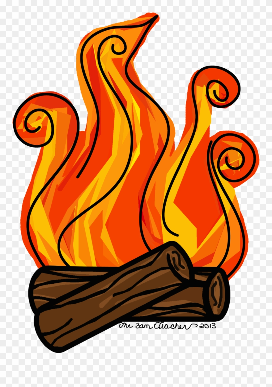Campfire Clipart Fireplace Fire.