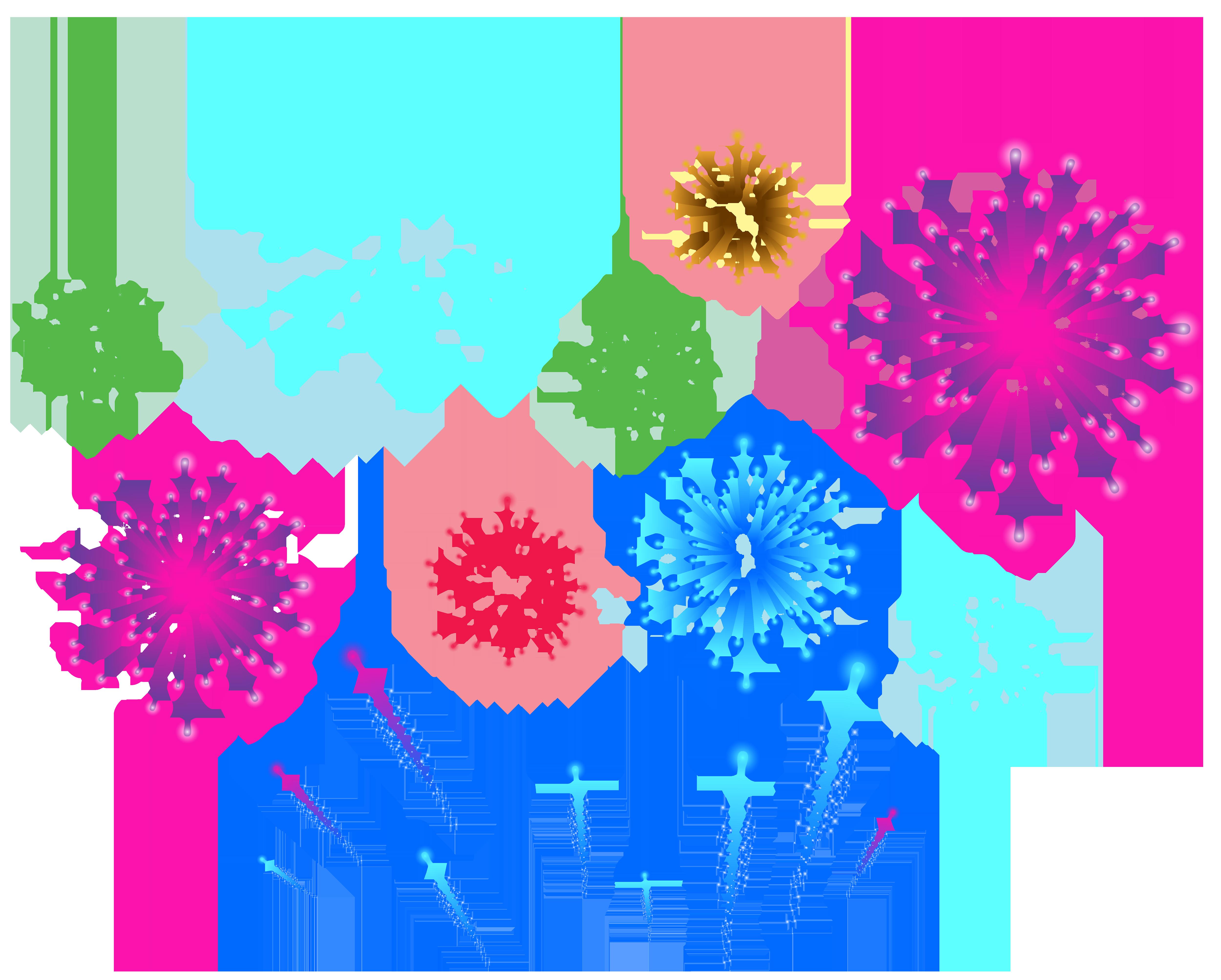 Fireworks Transparent PNG Clip Art Image.