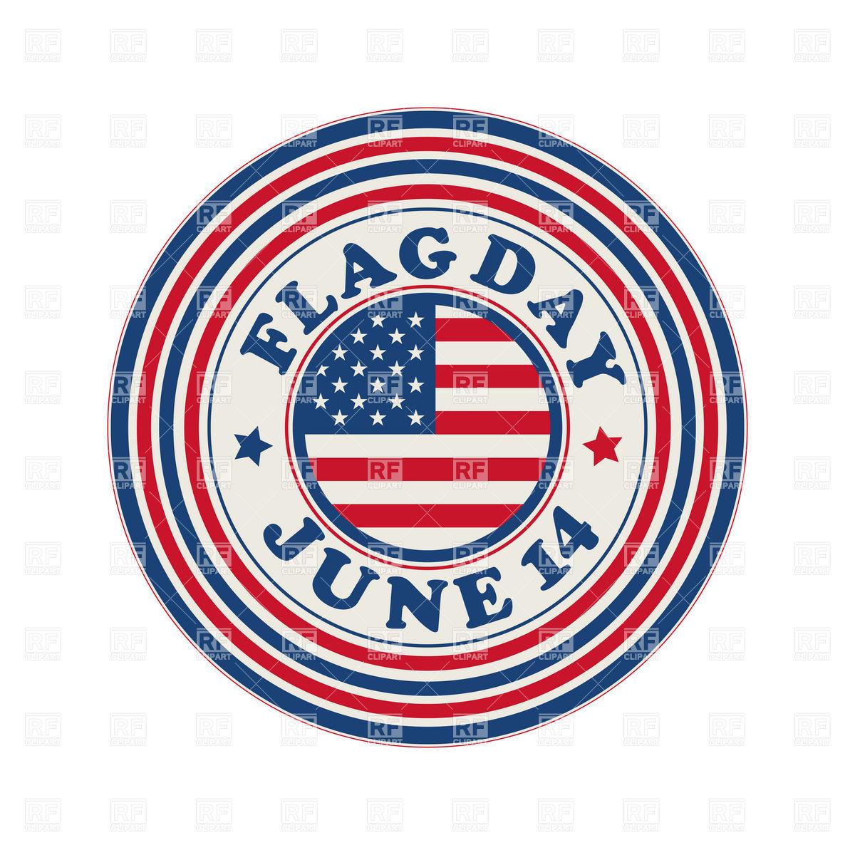 Flag Day celebration stamp Stock Vector Image.