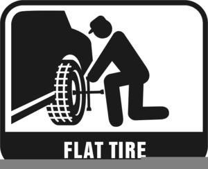 Free Clipart Flat Tire.