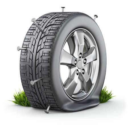 7,905 Flat Tire Stock Illustrations, Cliparts And Royalty Free Flat.