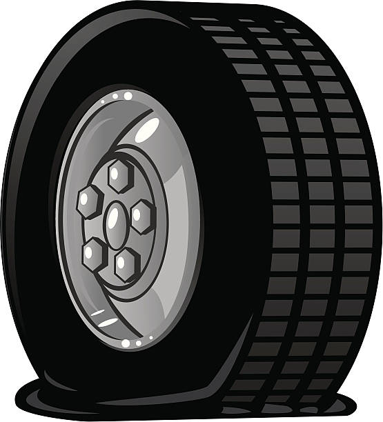 Best Flat Tire Illustrations, Royalty.
