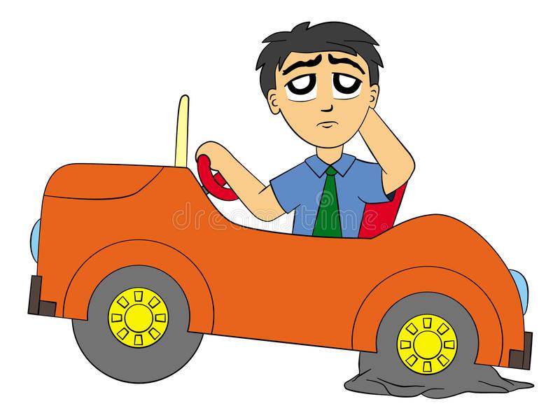 Flat Tire Stock Illustrations.