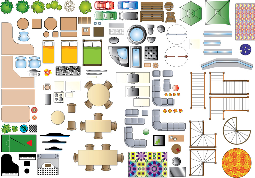 Floor Plan Clipart Furniture.