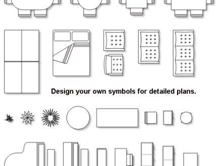 Floor Plan Furniture Clip Art, Vector Floor Plan Furniture Symbols.