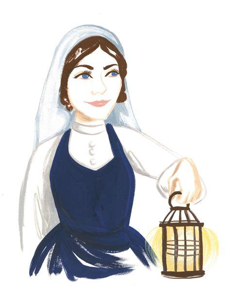 Nightingale Lamp Clip Art.