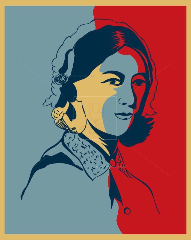 Florence Nightingale Portrait illustration.
