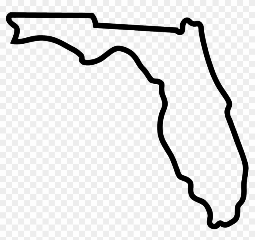Fullsize Of Outline Of Florida.