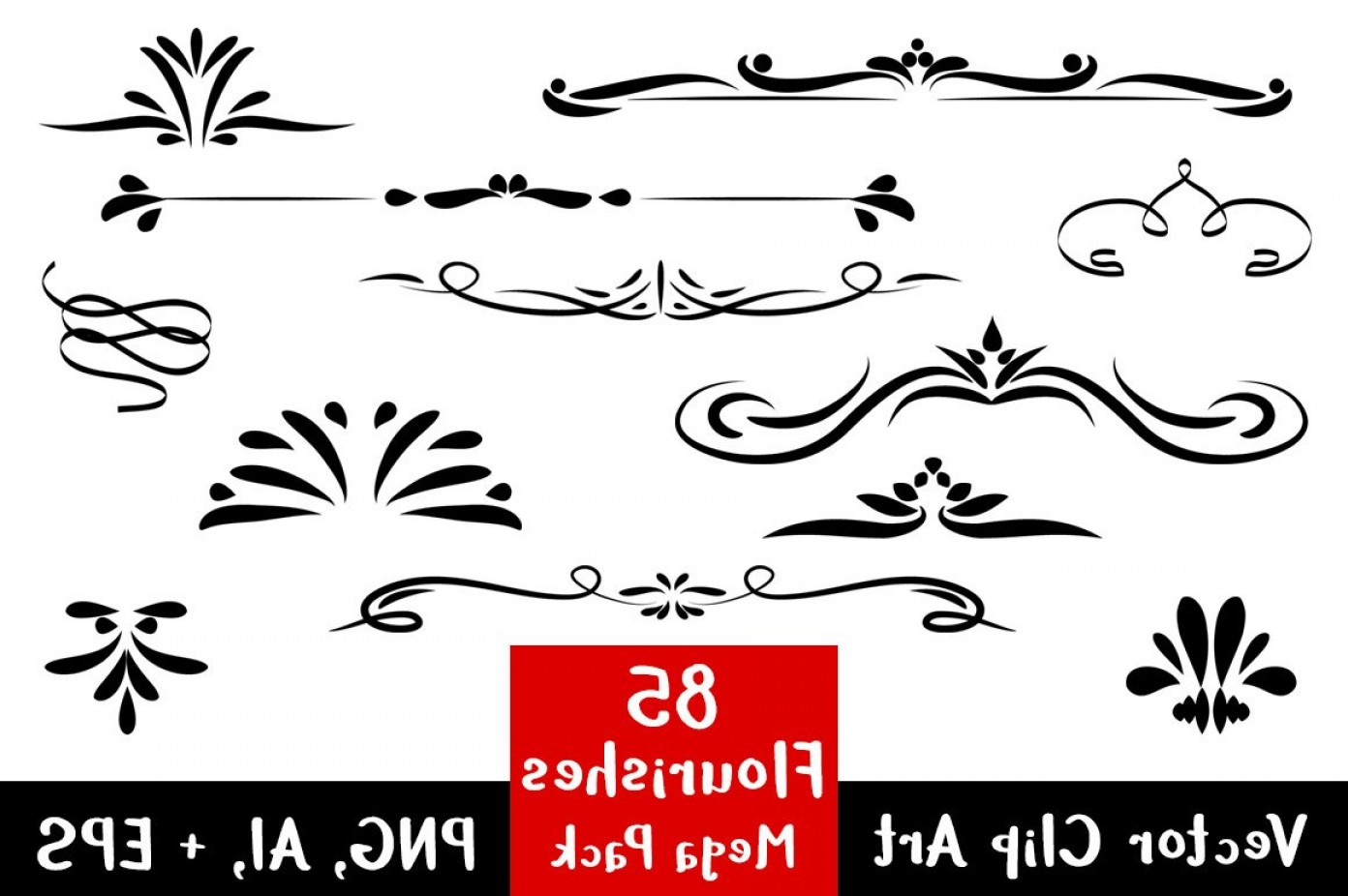 Flourishes Clip Art Mega Pack.