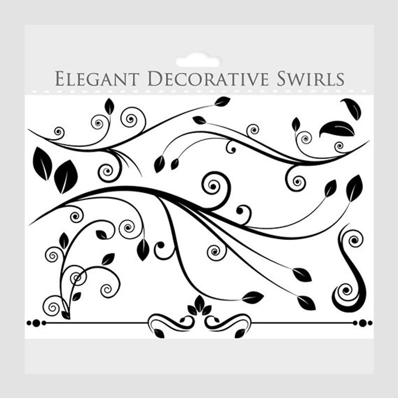 Decorative flourish clipart.