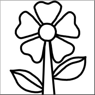 Clip Art: Flower B&W I abcteach.com.