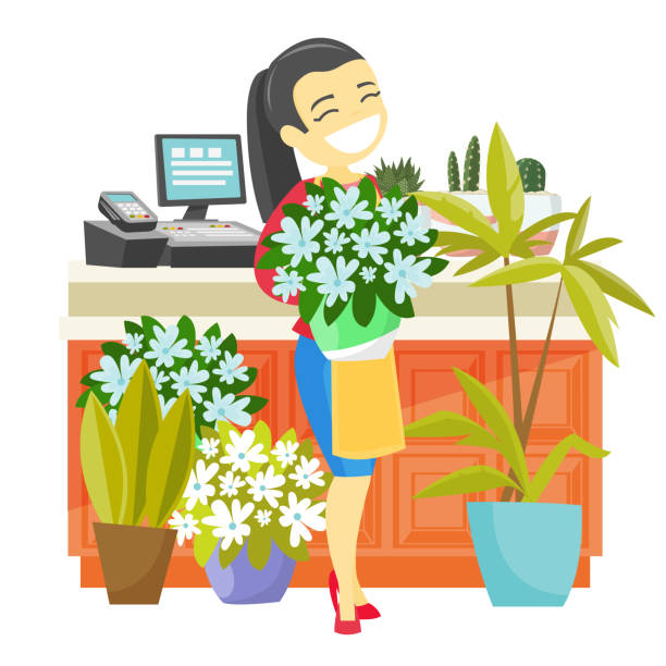 Best Flower Shop Illustrations, Royalty.