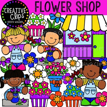 Flower Shop Clipart {Creative Clips Clipart}.