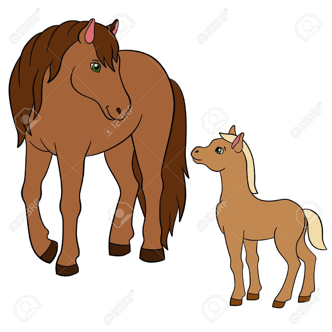 Horse and foal clipart 4 » Clipart Portal.