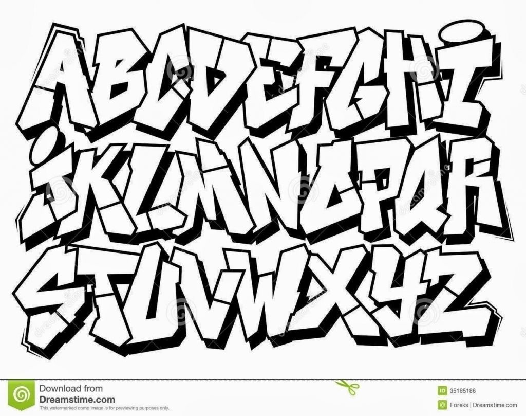 Bubble Letters Graffiti Style How To Draw Easy Lettering 1024x809.