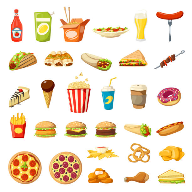 Best Take Out Food Illustrations, Royalty.