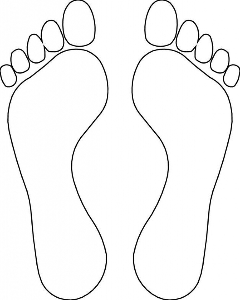 Feet Clipart Black And White.