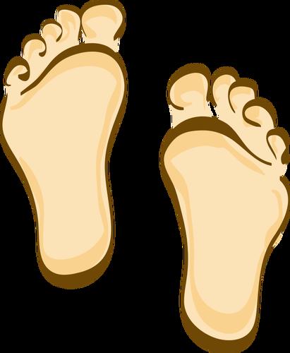 Human feet cartoon clip art.