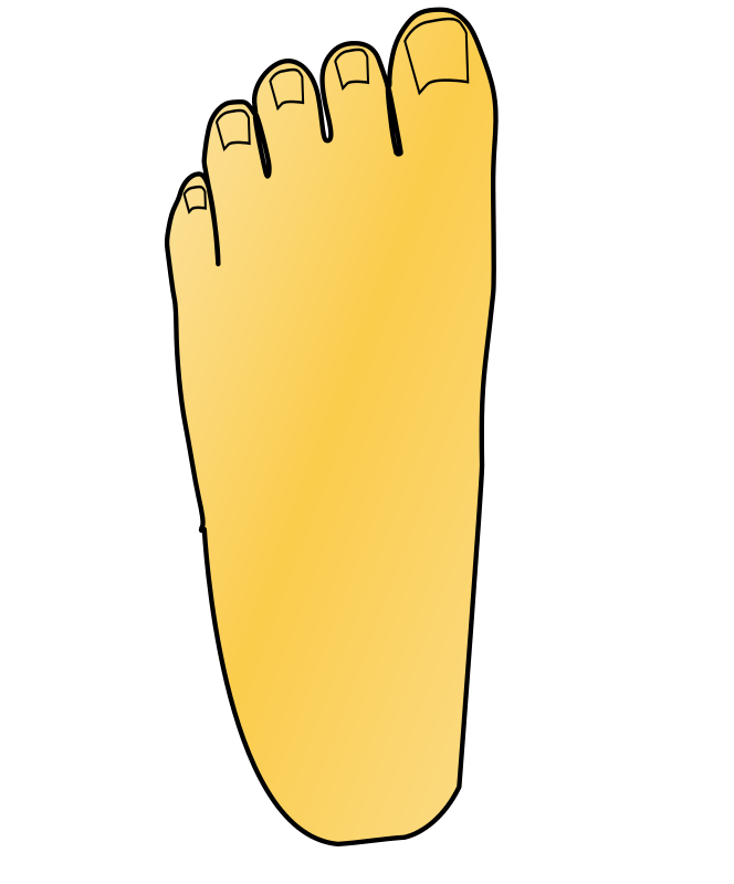 Free Clipart: Foot left.