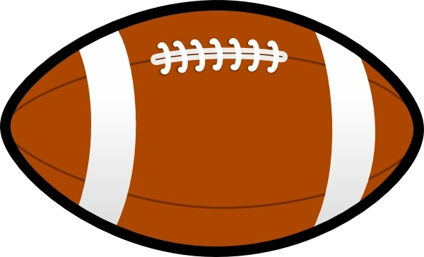 Rugby Ball Football clip art Free vector in Open office drawing svg.