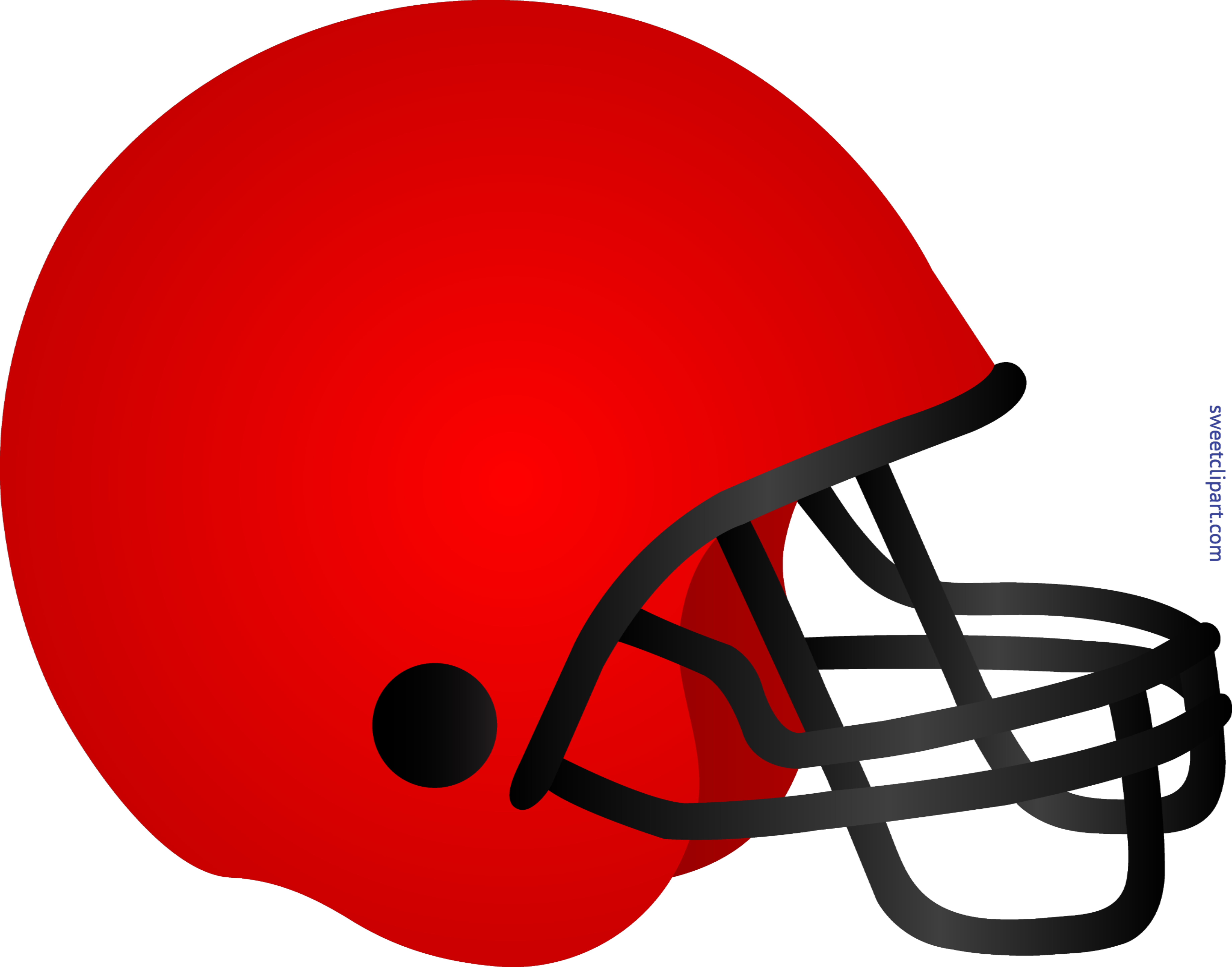 Football Helmet Red Clip Art.