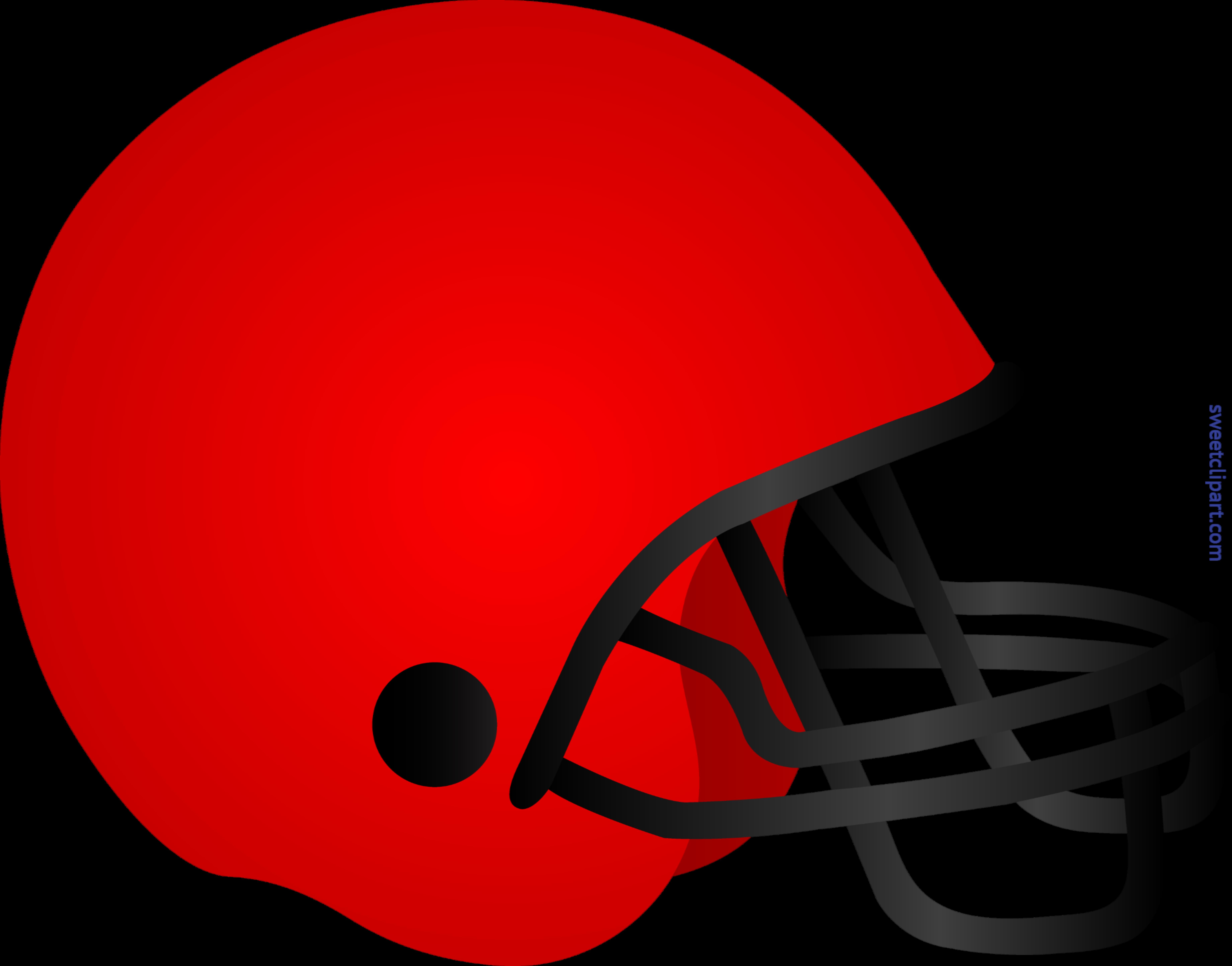 Football Helmet Red Clip Art.