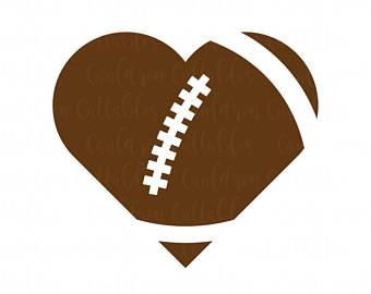 Heart clip art football.