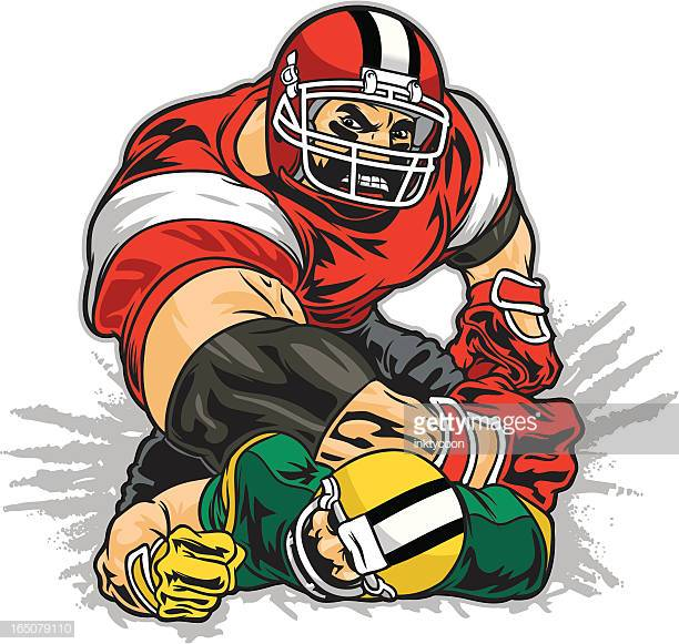 60 Top Tackle American Football Player Stock Illustrations, Clip art.
