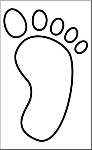 Clip Art: Footprint 05 B&W 2 I abcteach.com.