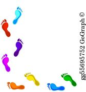Footprints Clip Art.