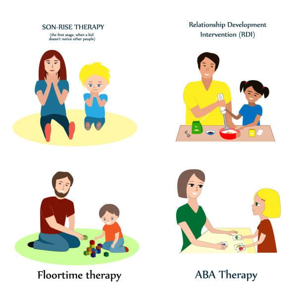 Best Autism Child Illustrations, Royalty.