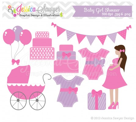 Photo : Free Baby Shower Clip Image.