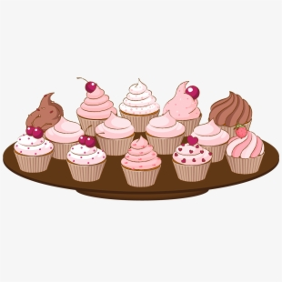 Good Bake Sale Clip Art Of A Cupcake With Sprinkles.