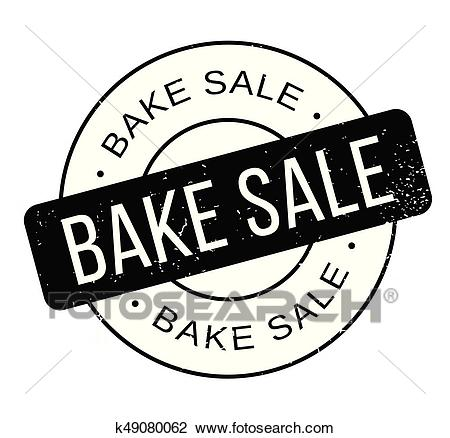 Bake Sale rubber stamp Clipart.