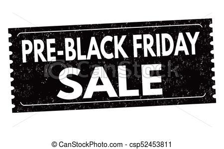 Pre black friday sale label or sticker.