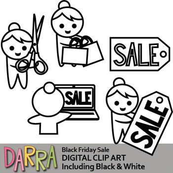 Black Friday Sale Clip Art.