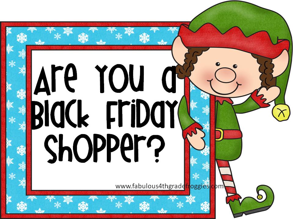 Fabulous 4th Grade Froggies: Are you a Black Friday shopper? Clipart.