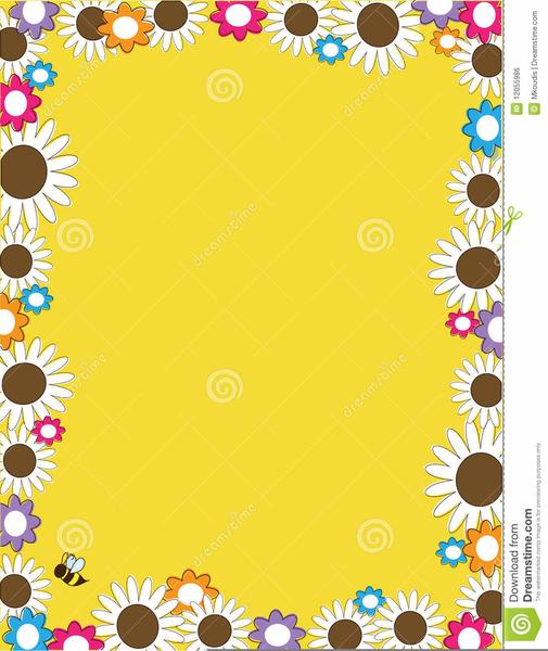 Daisy Borders Frames Clipart.
