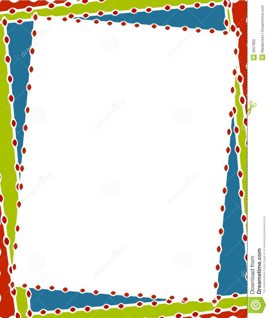 Retro Christmas Border Frame Stock Illustration.