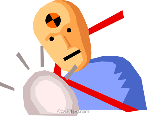 Crash test dummy Royalty Free Vector Clip Art illustration.