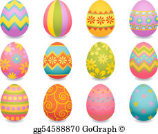 Easter Eggs Clip Art.
