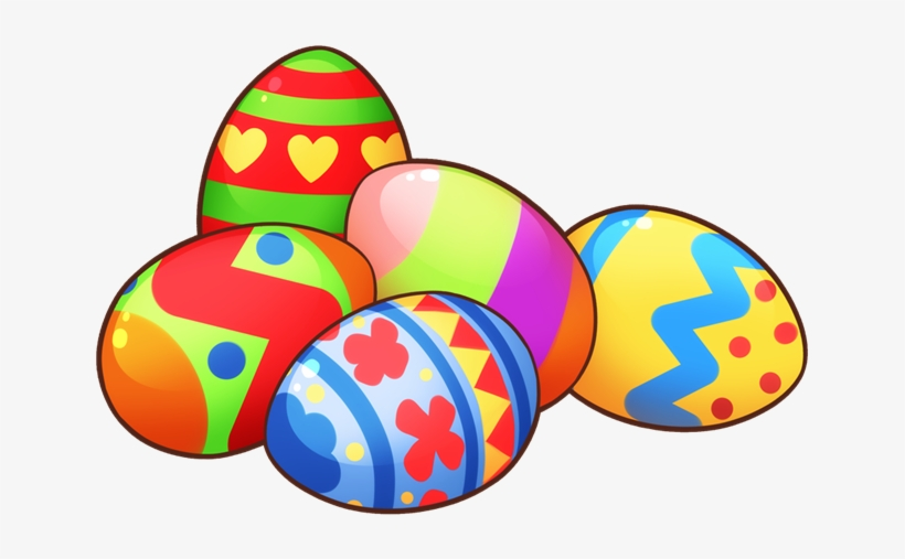 Easter Eggs In Grass Clip Art.