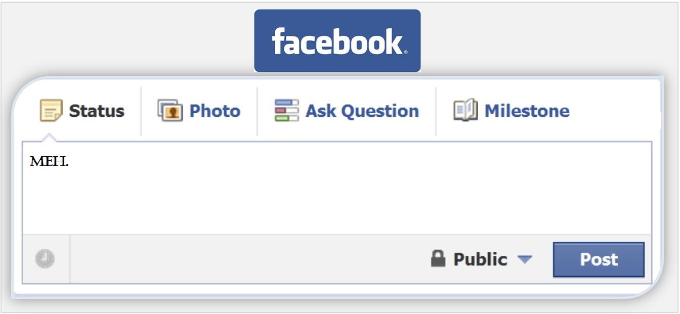 Facebook Status Clipart.